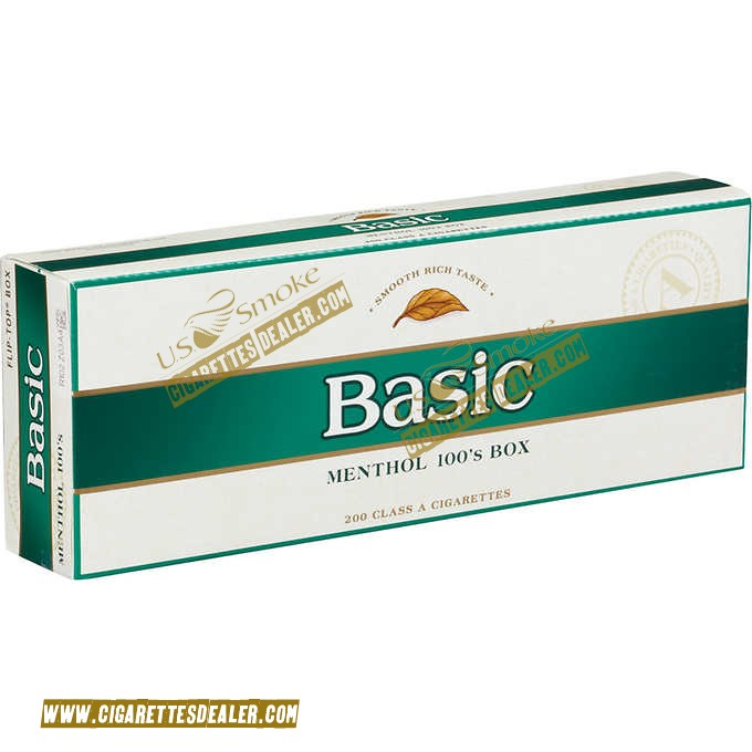 Basic Menthol 100's Gold Pack Box