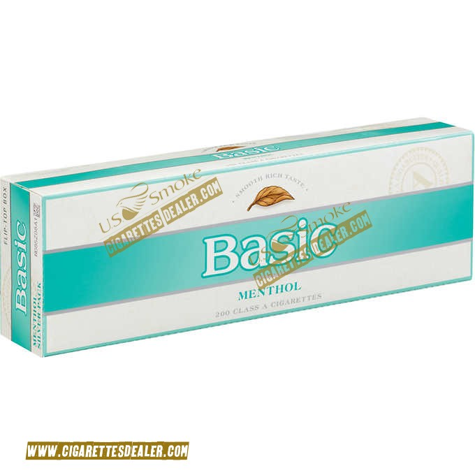 Basic Menthol Silver Pack Box