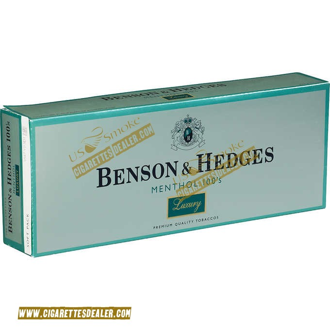 Benson & Hedges Menthol 100's Luxury Soft Pack