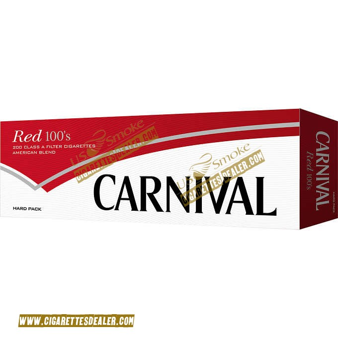 Carnival Red 100's Box