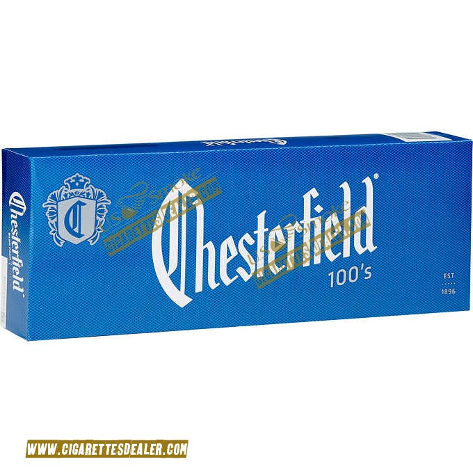 Chesterfield Blue 100's Box