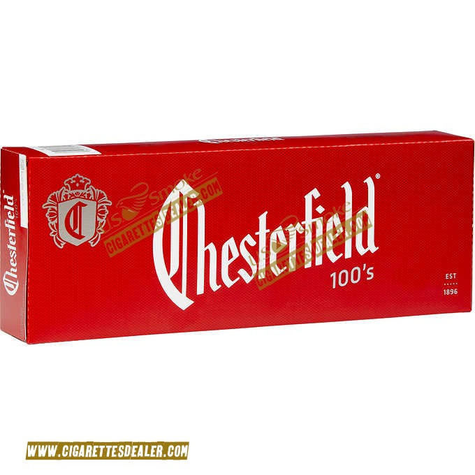 Chesterfield Red 100's Box