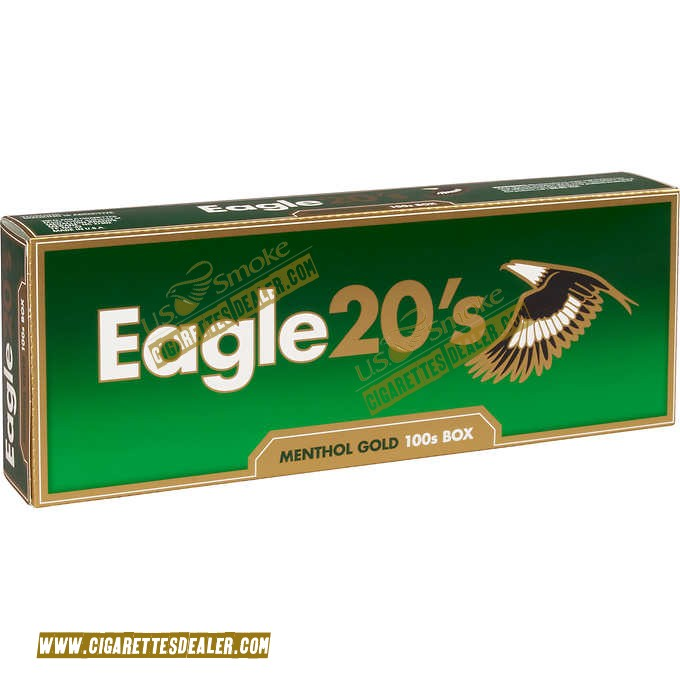 Eagle 20's Menthol Gold 100's Box