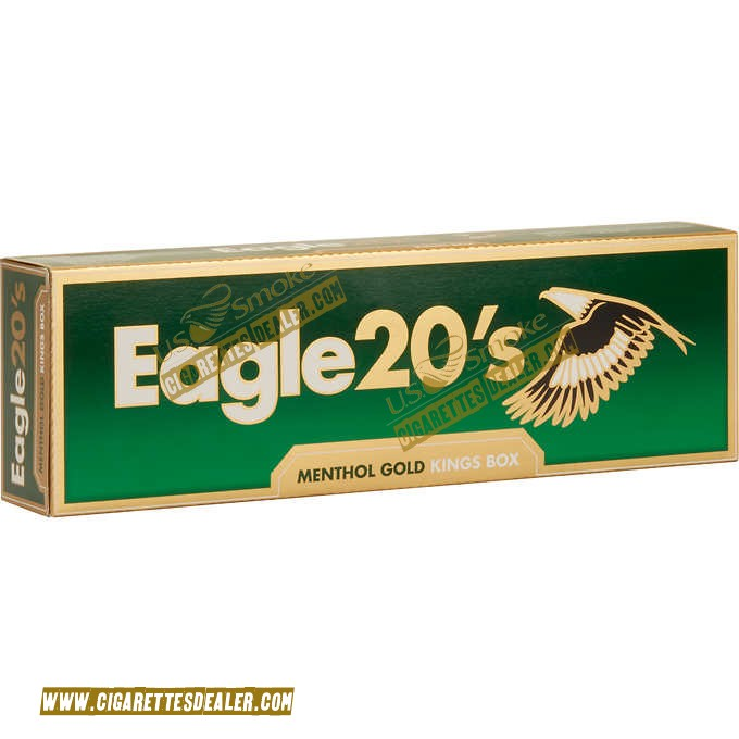 Eagle 20's Menthol Gold King Box