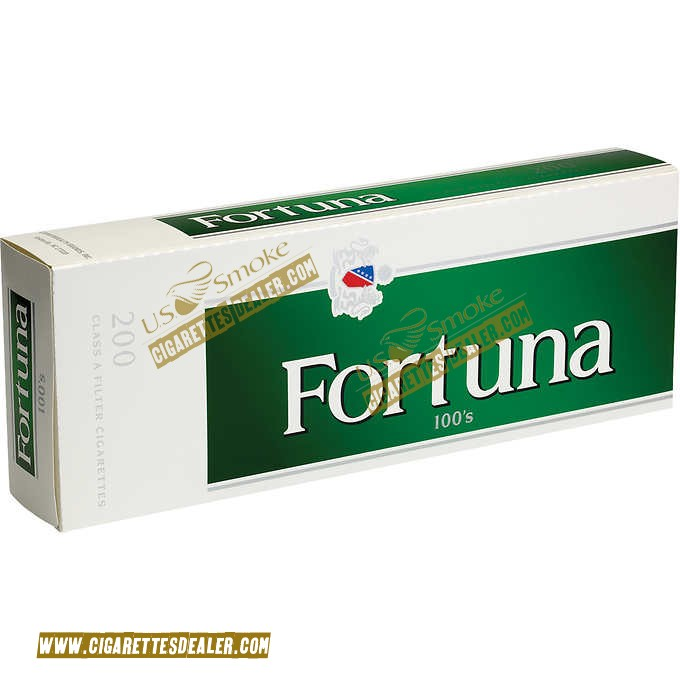 Fortuna Menthol Dark Green 100's Box