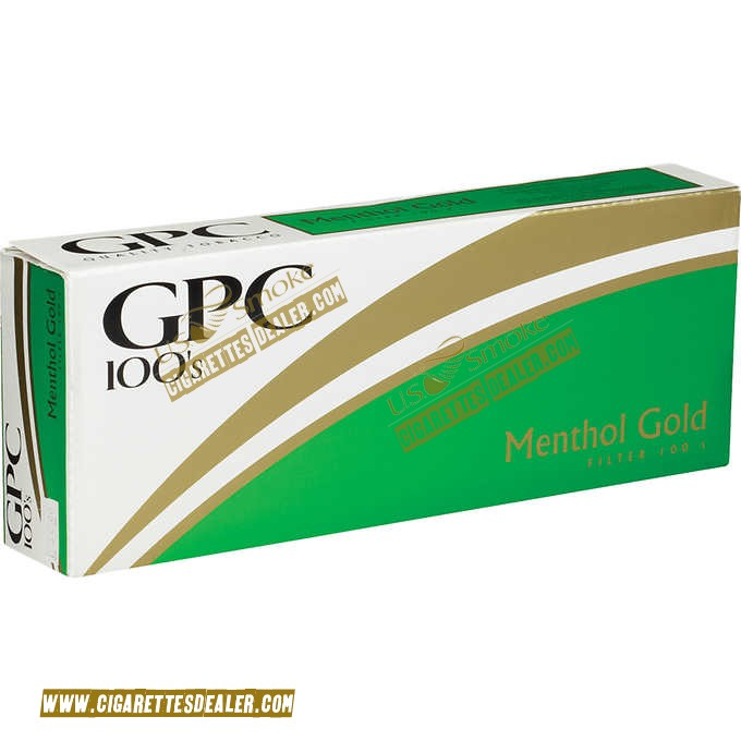 GPC Menthol Gold 100's Soft Pack