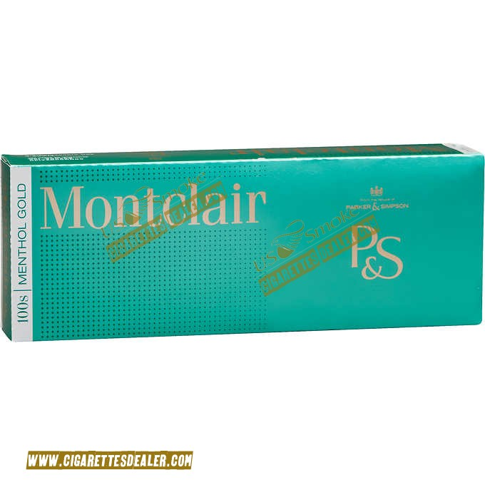 Montclair Menthol Gold 100's Box