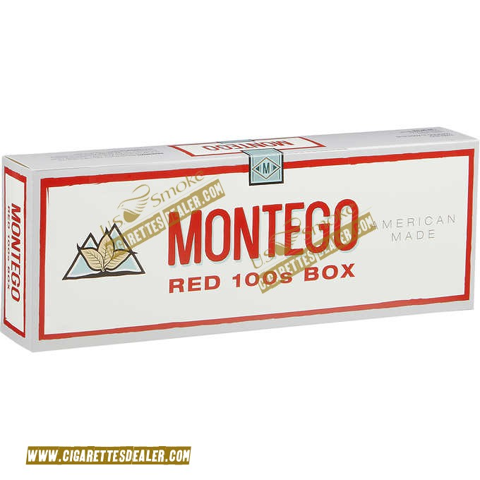Montego Red 100's Box
