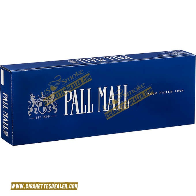 Pall Mall Blue 100's Box