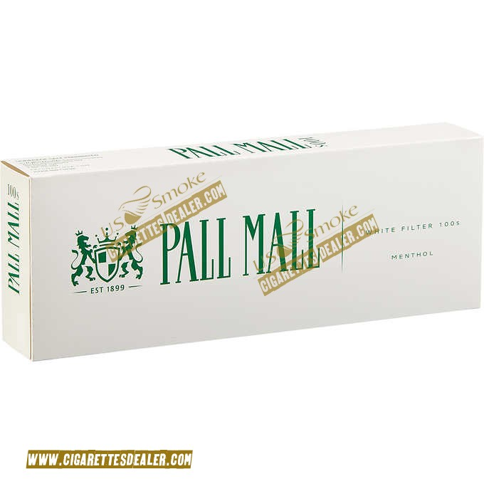 Pall Mall Menthol White Filter 100's Box