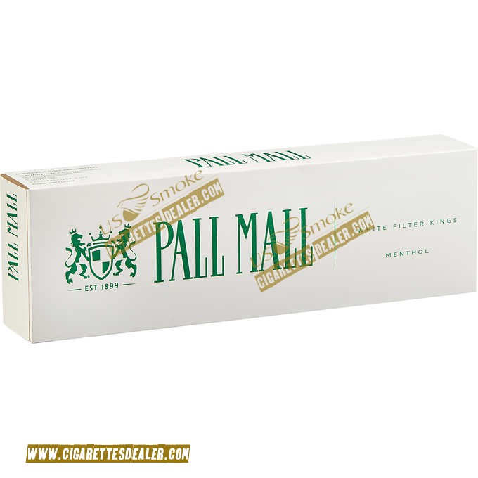 Pall Mall Menthol White Filter Kings Box