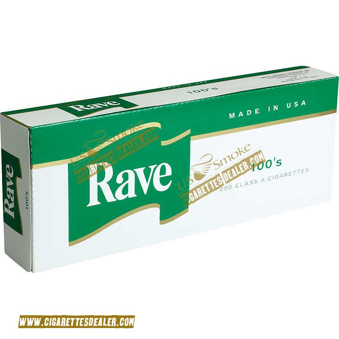 Rave Menthol Dark Green 100's Box