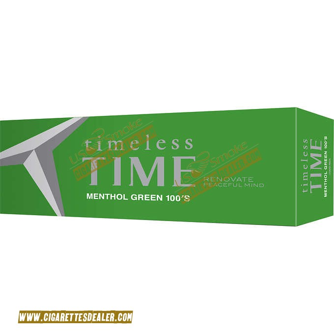 Timeless Time Menthol Green 100 Box