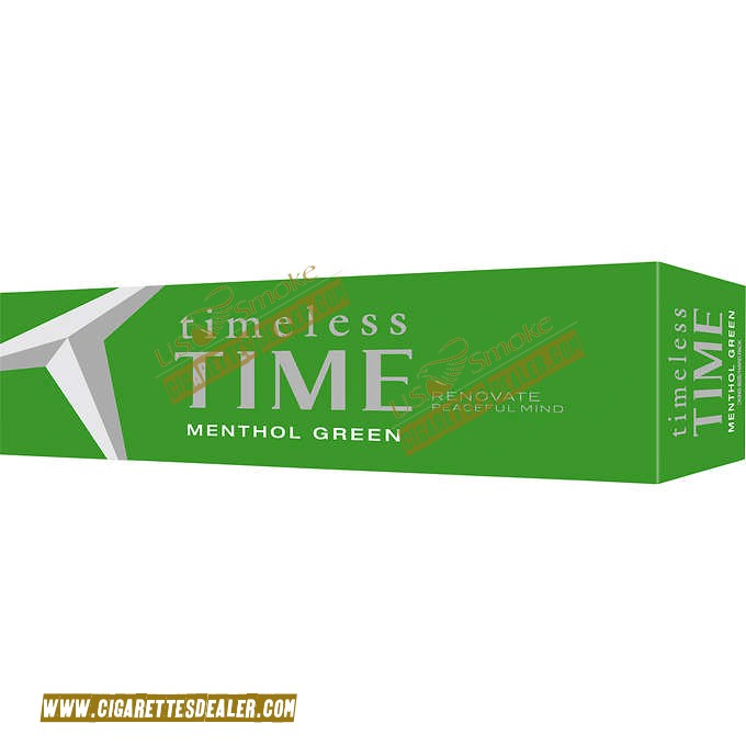 Timeless Time Menthol Green King Box
