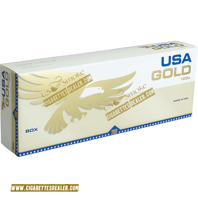 USA Gold Gold 100's Box