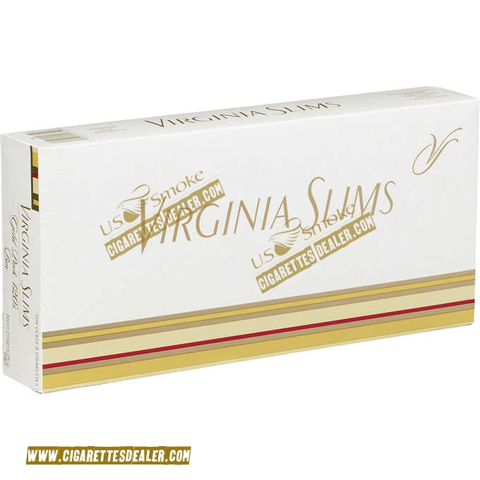 Virginia Slims 120's Gold Pack Box