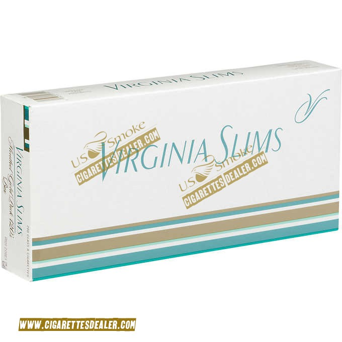 Virginia Slims 120's Menthol Gold Pack Box