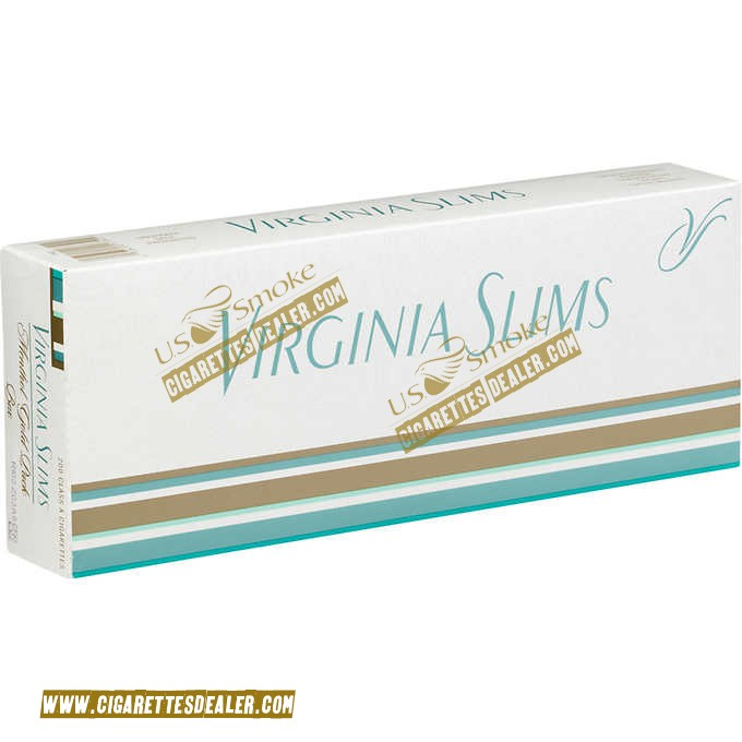 Virginia Slims Menthol Gold Pack Box